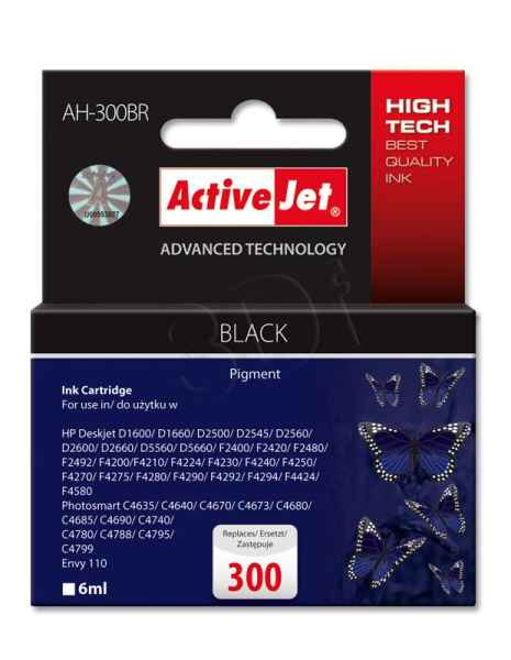 Ink ActiveJet AH-300BR | black | 6 ml | HP HP 300 CC640EE
