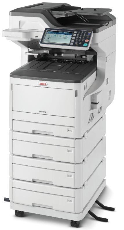Oki MC873dnv A3 35ppm ProQ2400DPI, PCL/PS,USB,LAN (Print/Scan/Copy/Fax), 250GB HDD