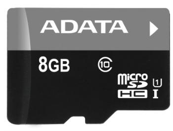 ADATA Premier micro SDHC karta 8GB UHS-I U1 Class 10 + adaptér