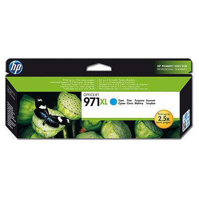 HP CN626AE Ink Cart No.971XL pro OJ Pro X451,X551dw,X476/X576dw, 6600str., Cyan