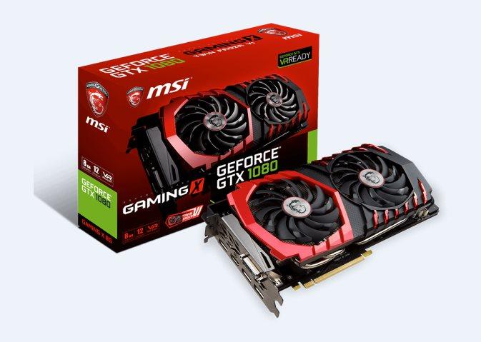 MSI VGA NVIDIA GTX 1080 GAMING X 8G, GTX1080, GDDR5X 8GB
