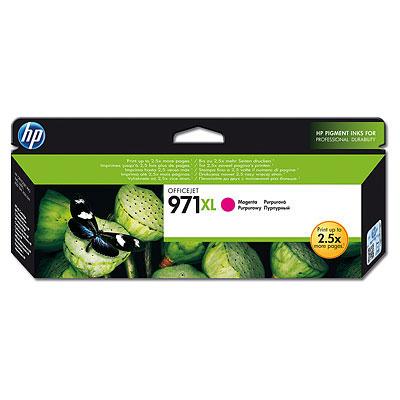 HP CN627AE Ink Cart No.971XL pro OJ Pro X451,X551dw,X476/X576dw, 6600str., Magenta