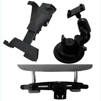 Qoltec Nastavitelný držák do auta na sklo/opěrku hlavy pro tablet 7-10.1''