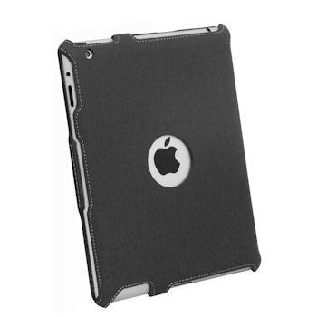 Qoltec Pouzdro Premium pro iPad 3, džínovina, černé