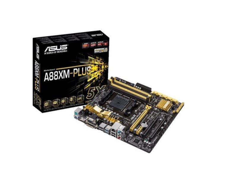 ASUS MB Sc FM2+ A88XM-PLUS, AMD A88X, 4xDDR3, VGA, mATX