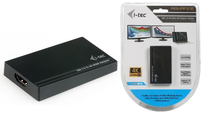 i-Tec USB3.0/HDMI 4K Ultra HD display adaptér, 3840x2160