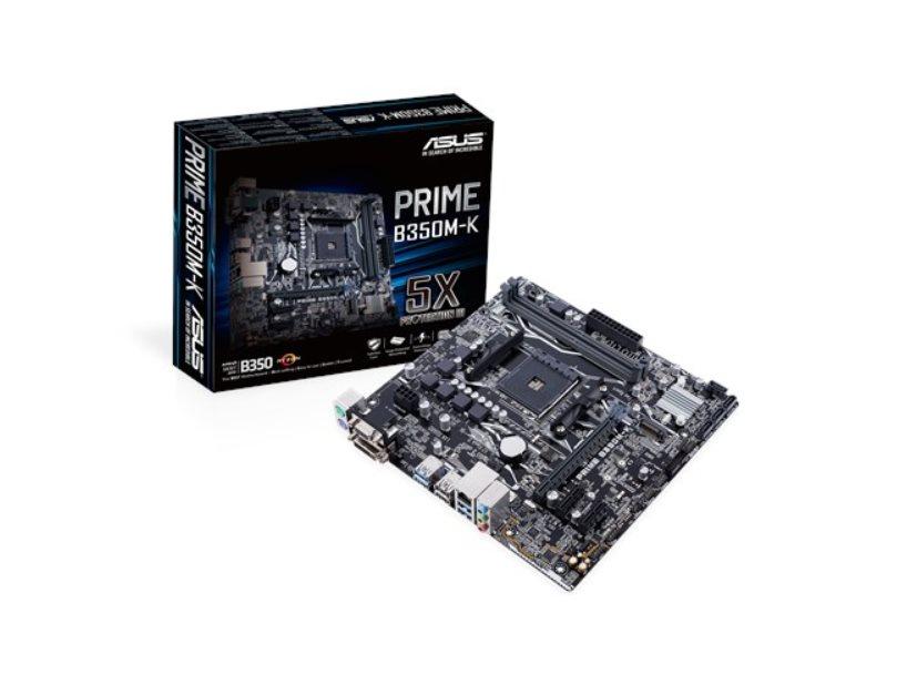 ASUS MB Sc AM4 PRIME B350M-K, AMD B350, 2xDDR4, VGA, mATX