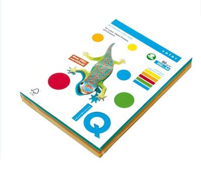 Kancelářský papír barevný IQ Color A4/80g, mix 5x50 trendové barvy