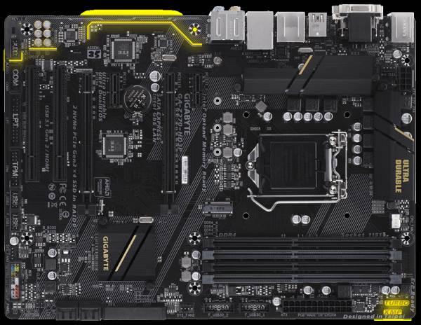 GIGABYTE MB Sc LGA1151 Z270-HD3P, Intel Z270, 4xDDR4, VGA