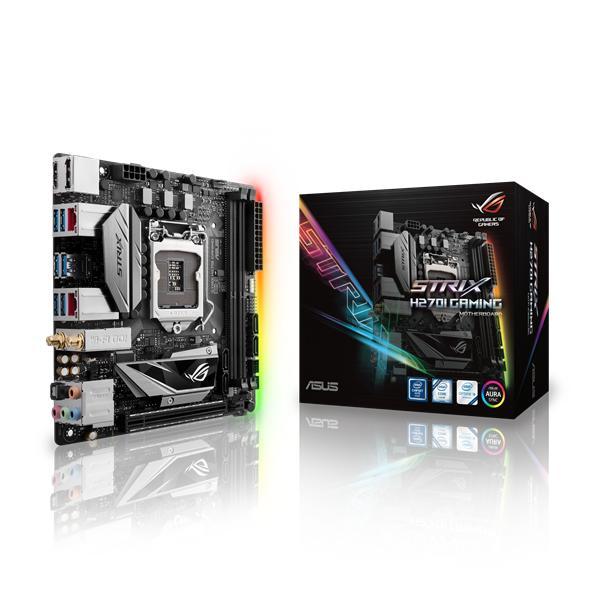 ASUS MB Sc LGA1151 ROG STRIX H270I GAMING, Intel H270, 2xDDR4, VGA, Wi-Fi, mini-ITX