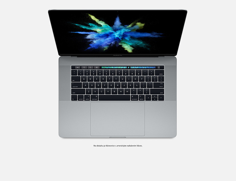 "Apple MacBook Pro 15,4"" Touch Bar/IPS Retina 2880x1800/QC i7 2.8-3.8GHz/16GB/256GB_SSD/R Pro 555_2GB/CZ/Space Gray"