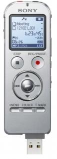 Sony dig. diktafon ICD-UX533S,stříbrný,4GB,USB,mSD