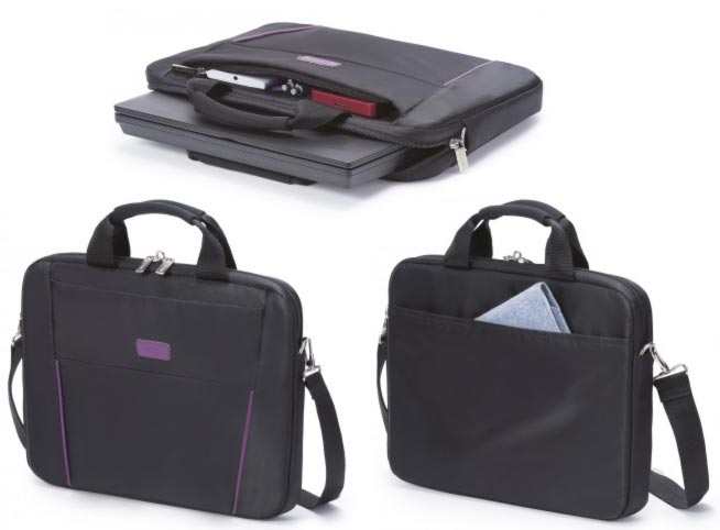 Dicota Slim Case Base 14 - 15.6 černo fialová brašna na notebook