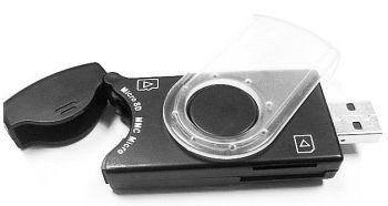 Gembird čítečka paměťových karet flash a SIM kart, USB 2.0