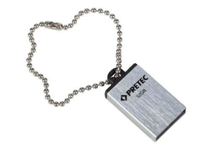 PRETEC USB 2.0 Flash Drive i-Disk Elite 8 GB (stříbrný)