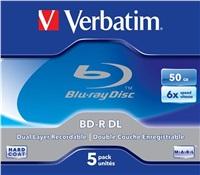 VERBATIM BD-R(5-pack)/DualLayer/Jewel/6X/50GB