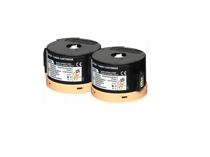 EPSON Toner černý pro AL-M200/MX200,Pack 2x2500str