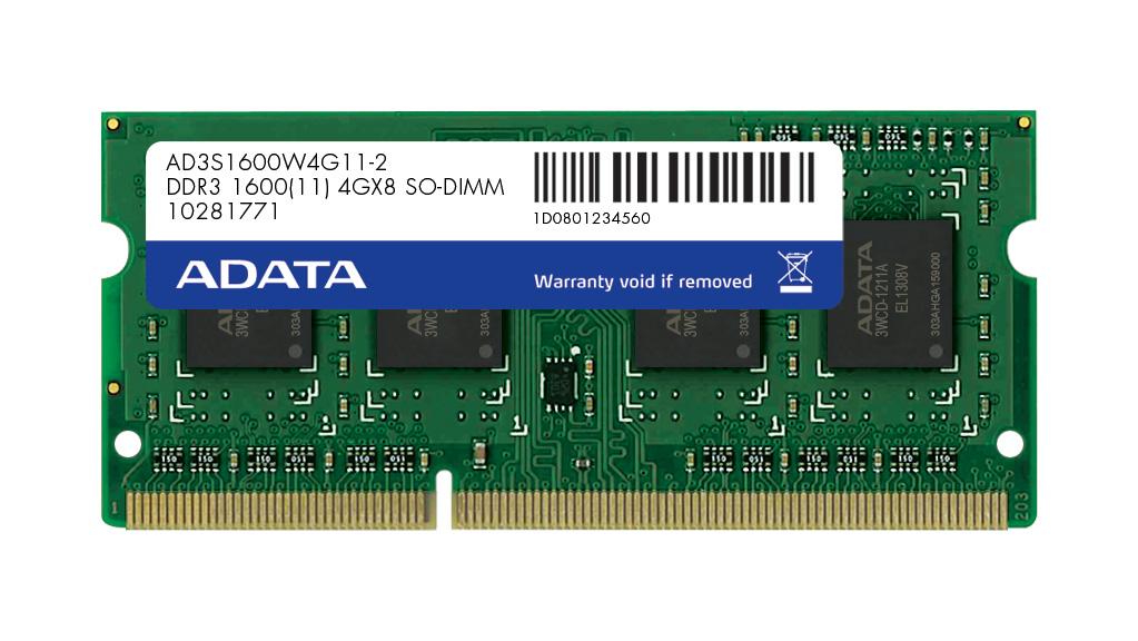 SO-DIMM 4GB DDR3 1600MHz CL11 ADATA