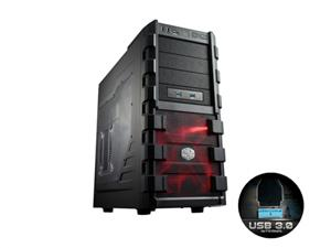 CoolerMaster skříň miditower HAF 912 Advanced, ATX, USB3.0, bez zdroje, black