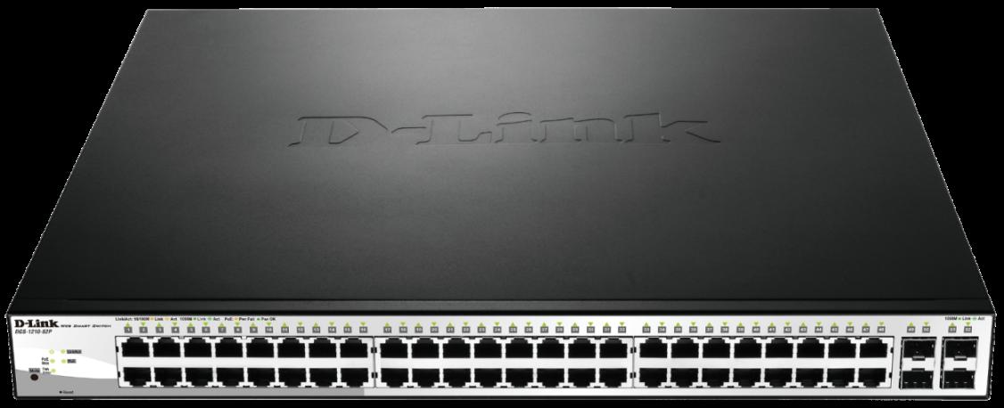 D-Link DGS-1210-52P 48x10/100/1000 Smart Sw,4x SFP