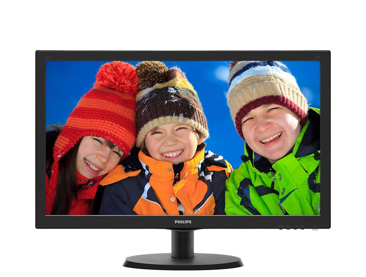 Philips LCD 223V5LHSB2/00 21.5'', LED, 5ms, DC10mil, D-Sub/HDMI, 1920x1080, č
