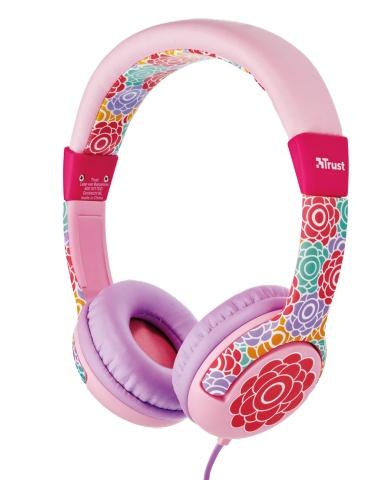 náhlavní sada TRUST Spila Kids Headphone - flower