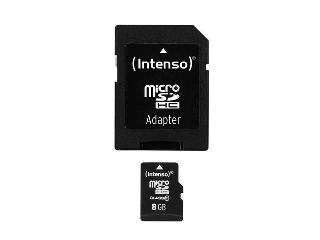Intenso micro SD 8GB SDHC card class 10