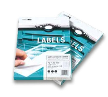 Samolepicí etikety 100 listů ( 21 etiket 70 x 42,3 mm)