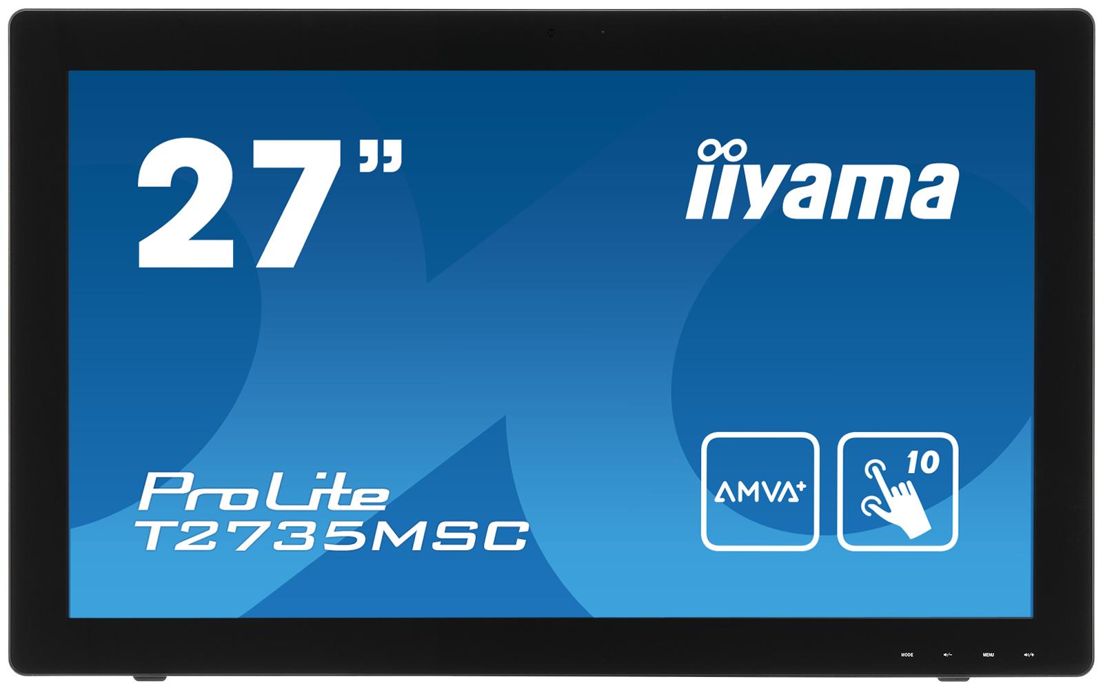 Iiyama LCD T2735MSC-B2 27''LED AMVA+ dotykový,5ms,VGA/DVI/HDMI,repro,1920x1080,č