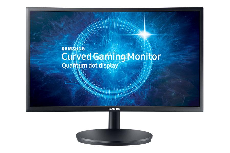 """Samsung LED LCD 24"""" C24FG70 16:9 VA/1920x1080/3000:1/1ms/350 cd/2xHDMI/DP/Quantum Dot/Prohnutý"""
