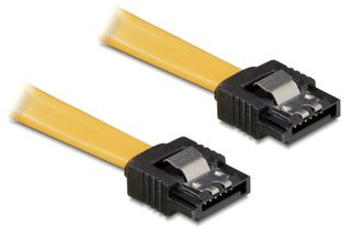 Delock Serial ATA II 20 cm data cable, straight/straight metal yellow