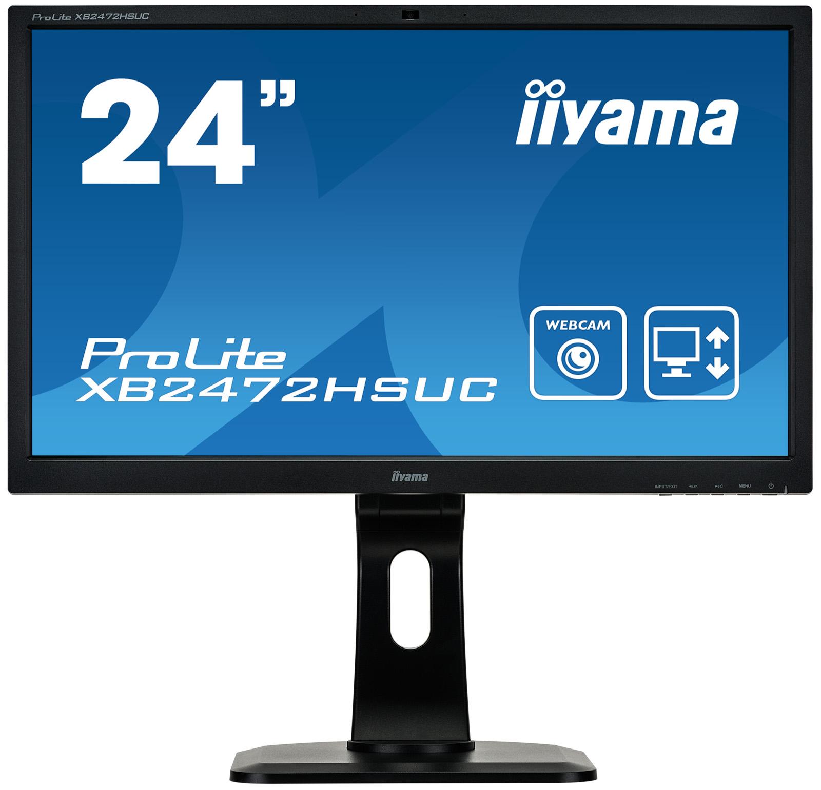 """24"""" LCD iiyama XB2472HSUC-B1- VA,8ms,250cd/m2,3000:1 (12M:1 ACR),repro,cam&mic,pivot,výšk.nast."""