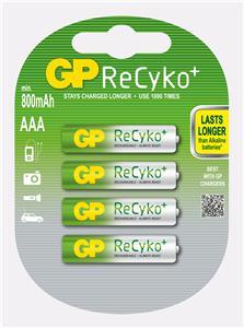 Nabíjecí baterie GP AAA Recyko+ 4ks