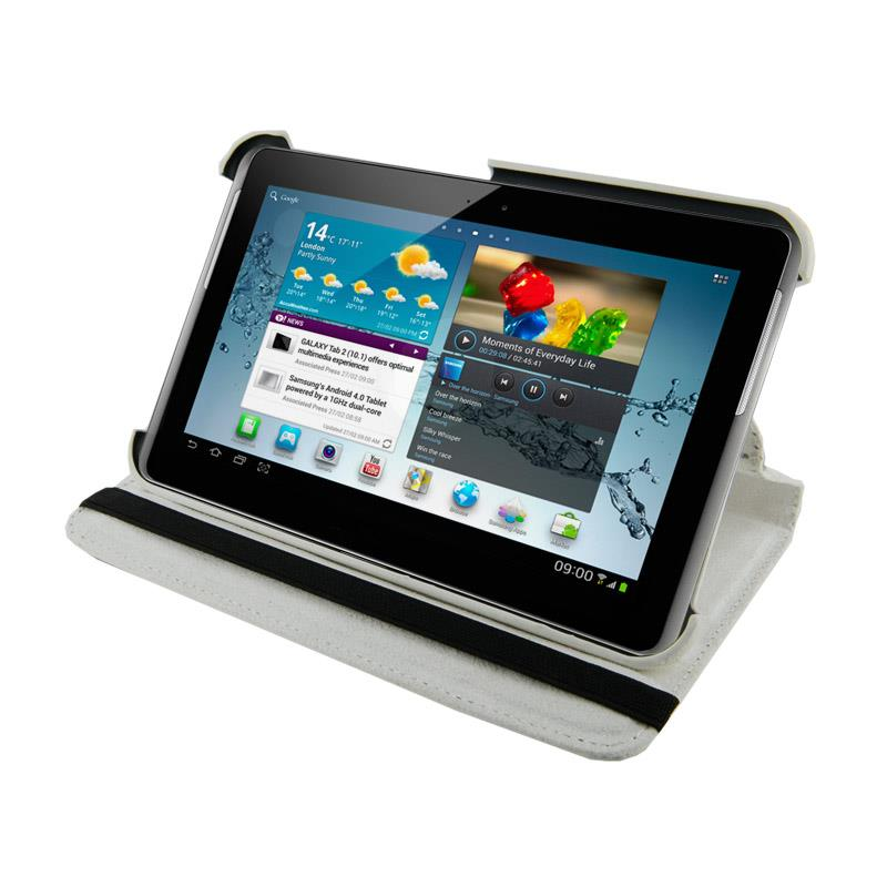 4World Pouzdro - stojan pro Galaxy Tab 2, Rotary, 7'', bílý