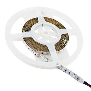 Whitenergy LED páska 5m | 30ks/m | 5050 | 7.2W/m | 12V DC | RGB | bez konektoru