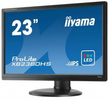 Iiyama LCD XB2380HS-B1 23'' LED,IPS,5ms,VGA/DVI/HDMI,repro,1920x1080,HAS,pivot,č