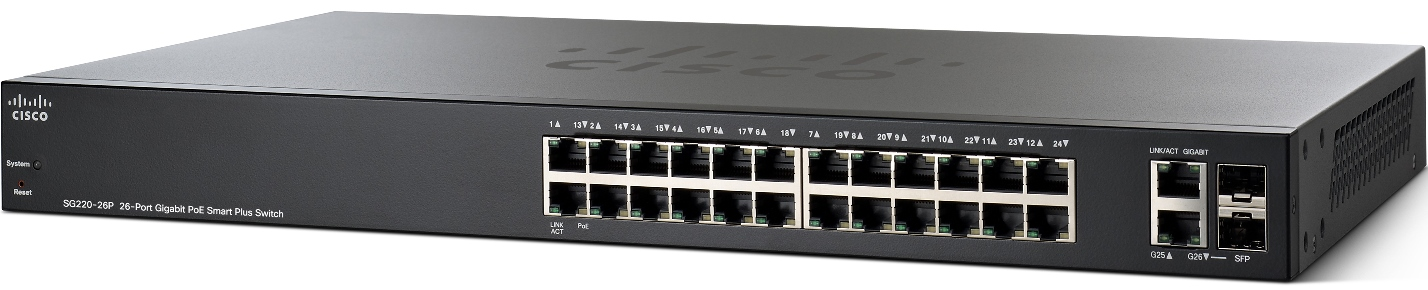 Cisco SG220-26P 26-Port Gigabit PoE Smart Switch