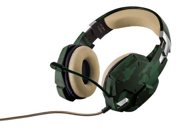 TRUST GXT 322C Carus Gaming Headset - jungle camo