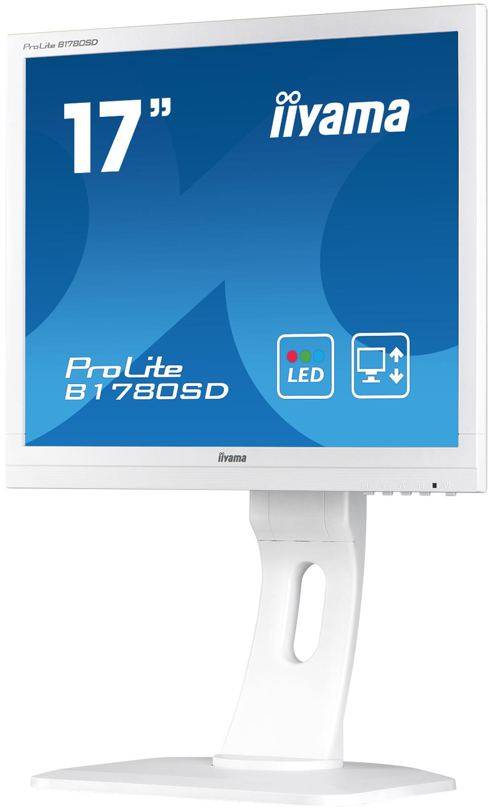 Iiyama LCD Prolite B1780SD 17'' LED, 5ms, VGA/DVI, repro, 1280x1024, HAS,pivot,b
