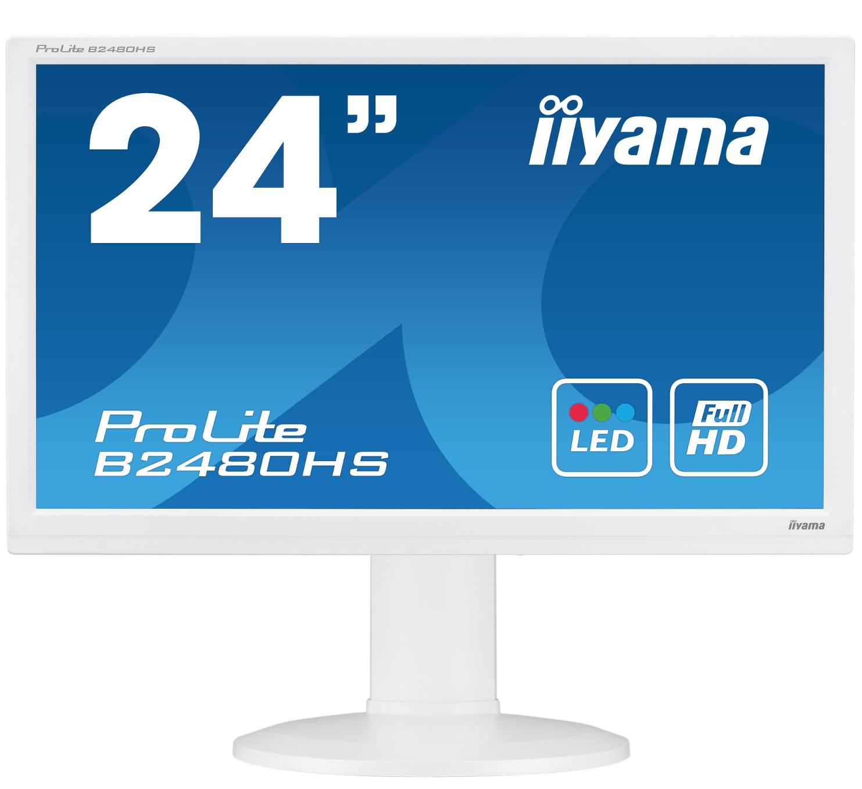 Iiyama LCD B2480HS-W2 23,6'' LED, 2ms, VGA/DVI/HDMI, repro,1920x1080,HAS,pivot,b