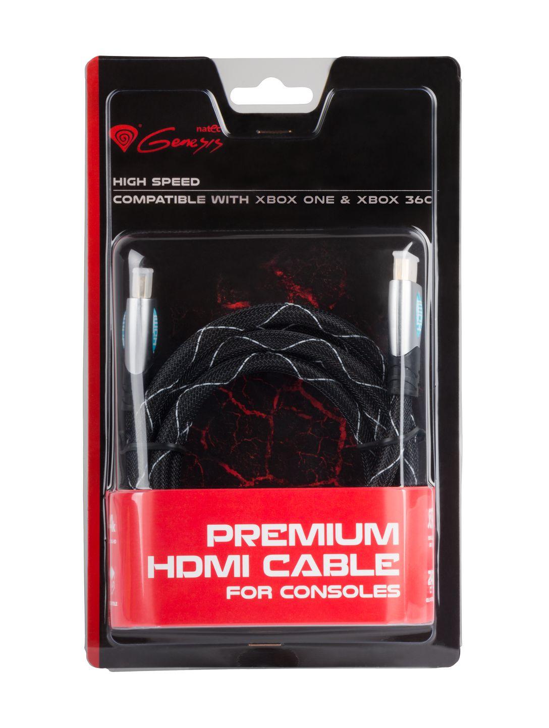 GENESIS Prémiový HDMI kabel pro Xbox One/X360 1,8m