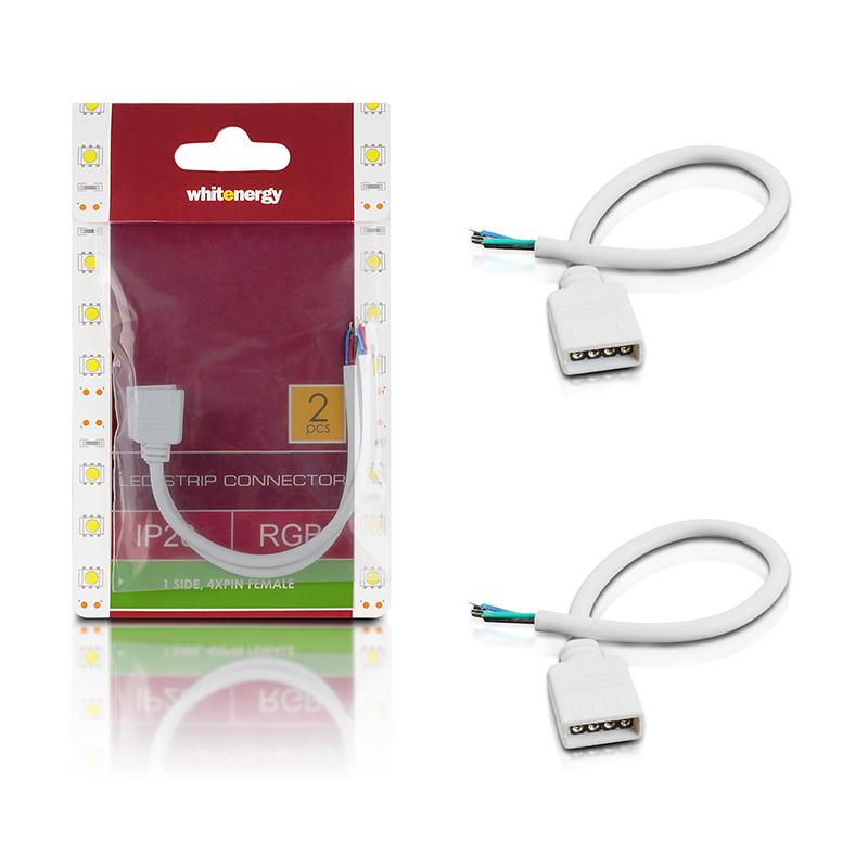 WE Spojka RGB LED pásku kabelová 15cm 1x4PIN F 2ks