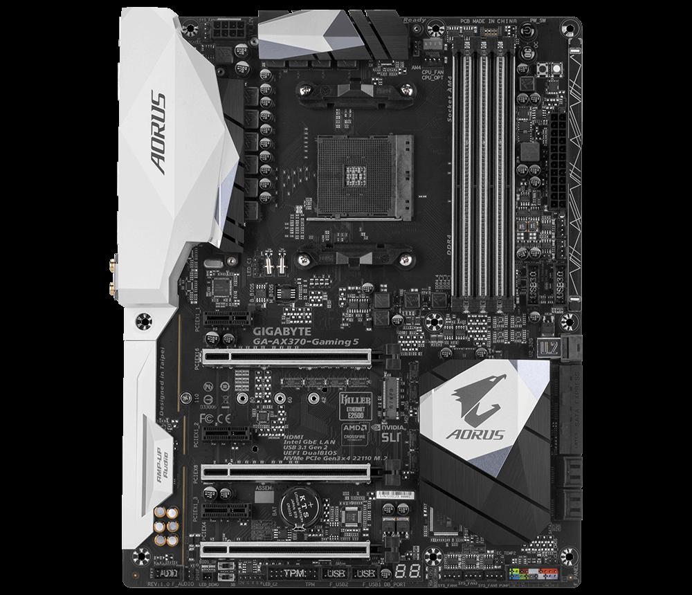 GIGABYTE MB Sc AM4 GA-AX370-Gaming 5, AMD X370, 4xDDR4, HDMI, ATX