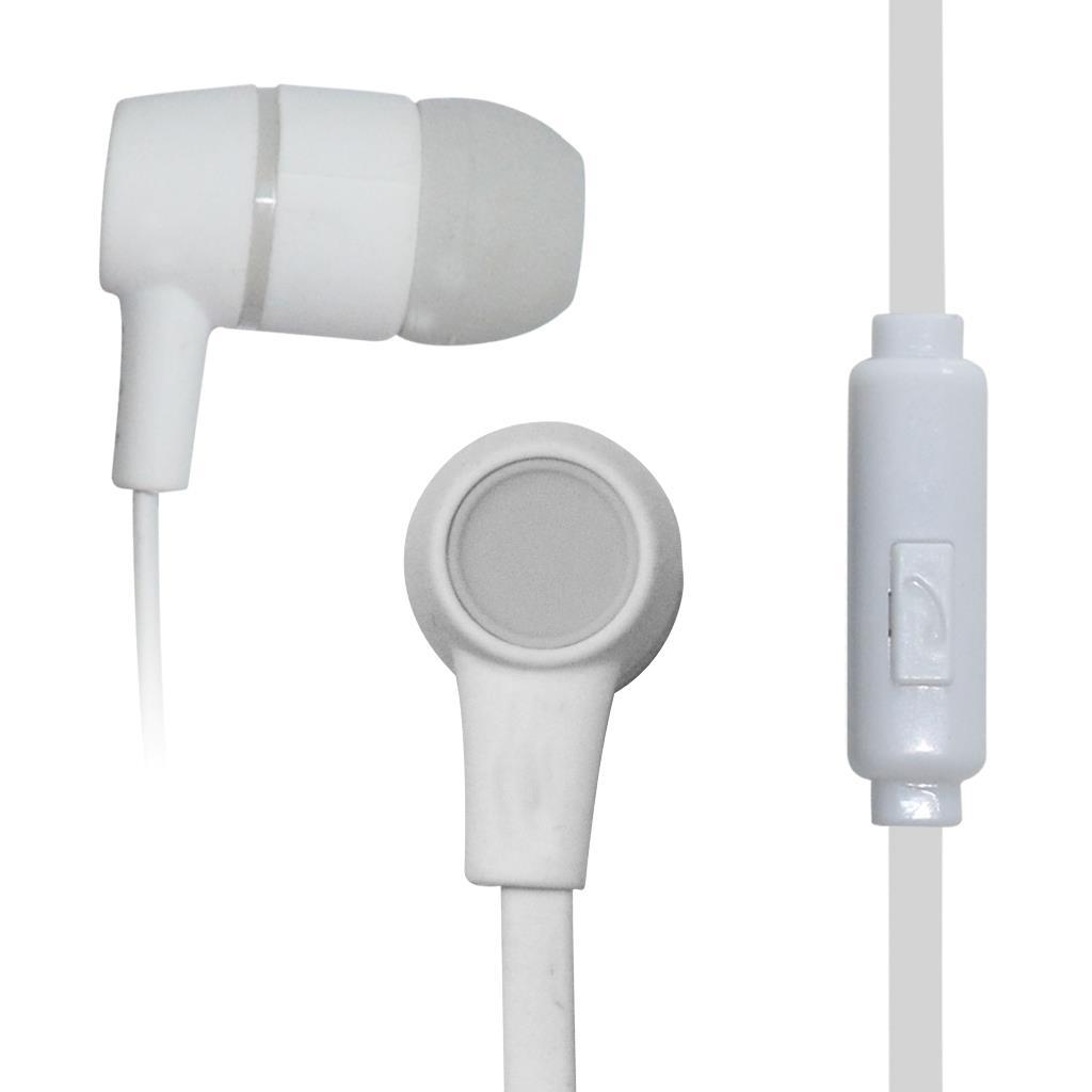 VAKOSS Stereofonní sluchátka s mikrofonem, do uší, silikonová SK-214W bílá