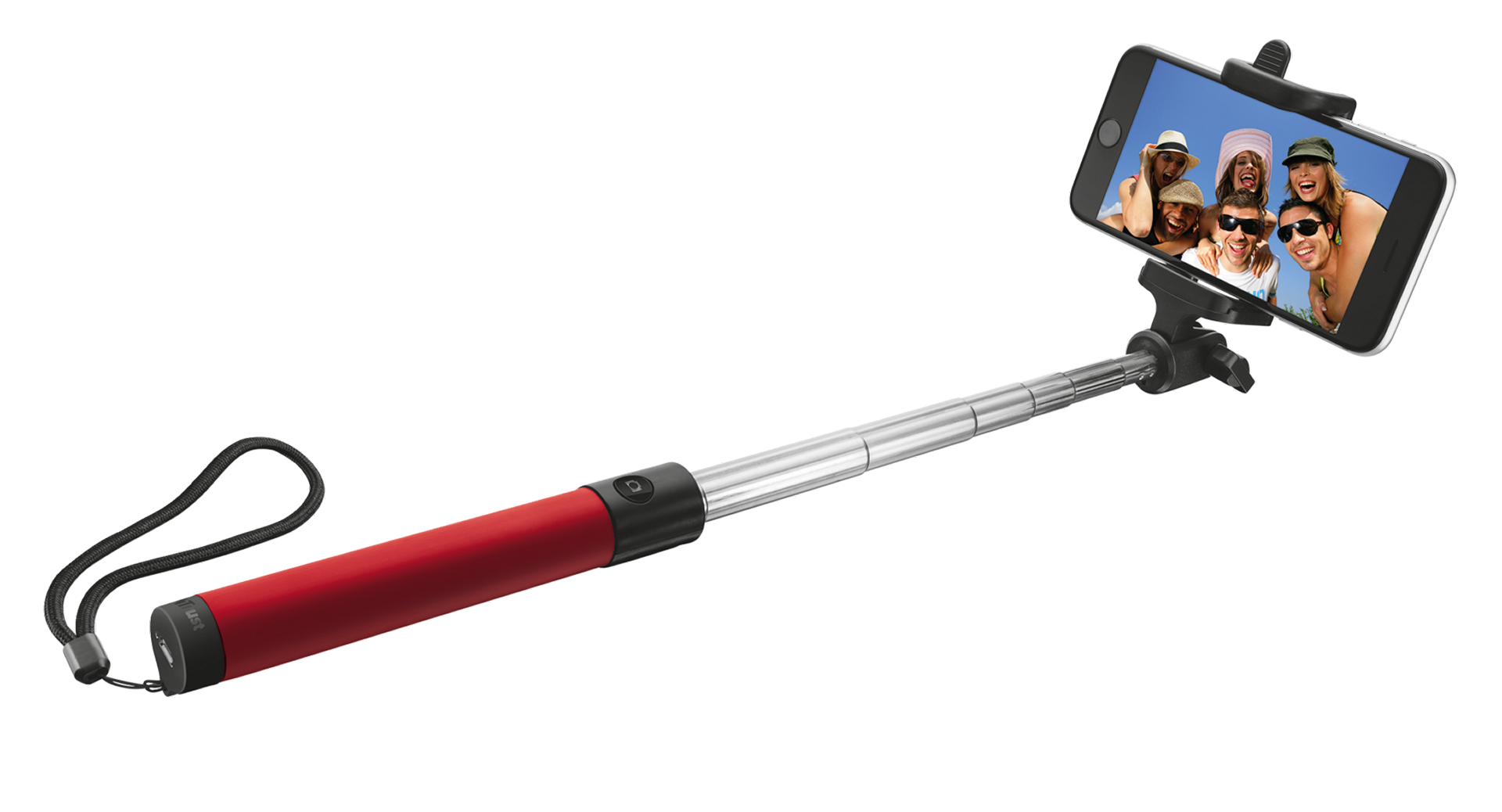 TRUST Bluetooth Foldable Selfie Stick - red