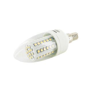 WE LED žárovka 60xSMD 3,5W E14 teplá bílá–svíčkC35