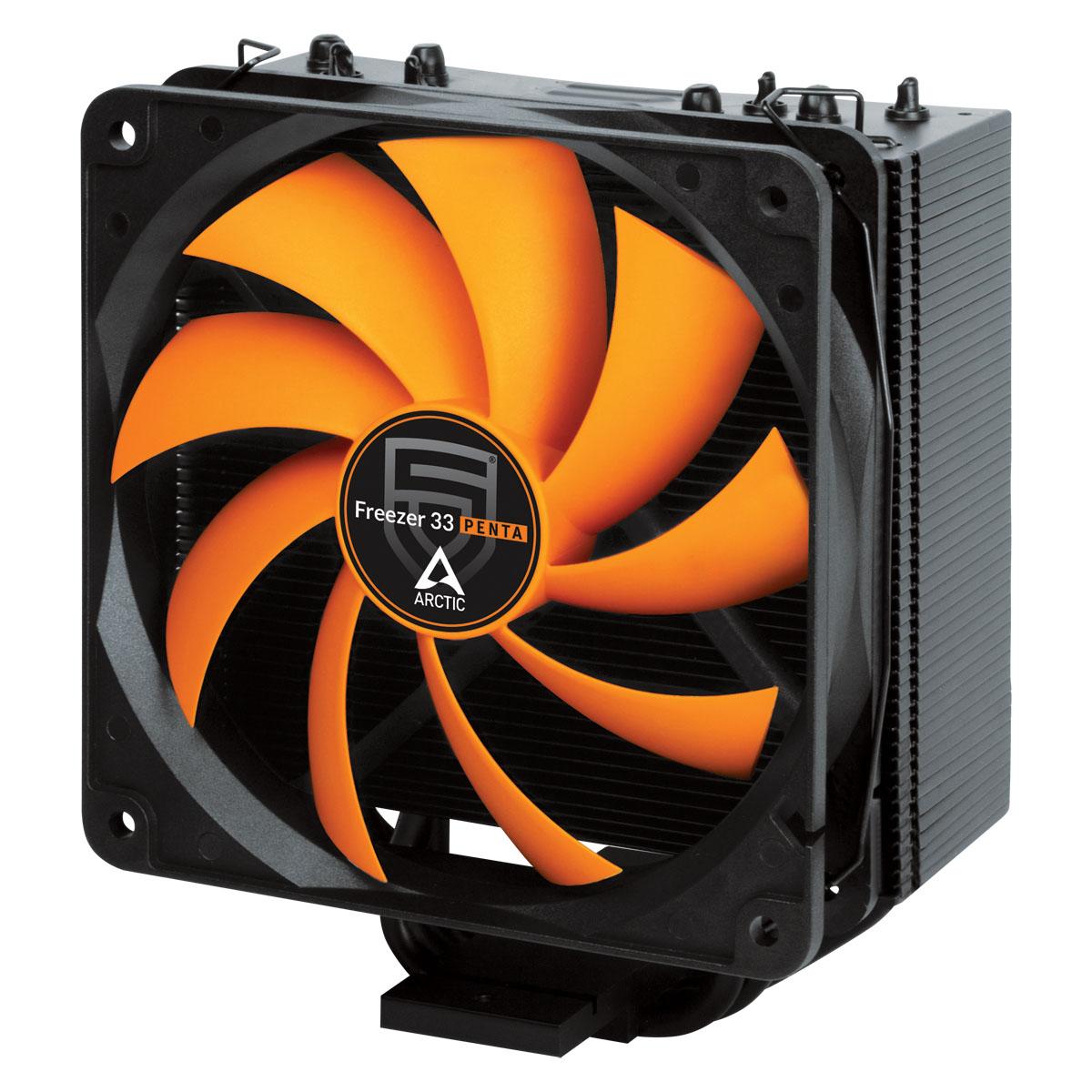ARCTIC Freezer 33 PENTA, CPU Cooler for Intel 2011-v3/1150/1151/1155/1156/2066, AMD socket AM4, direct touch technology