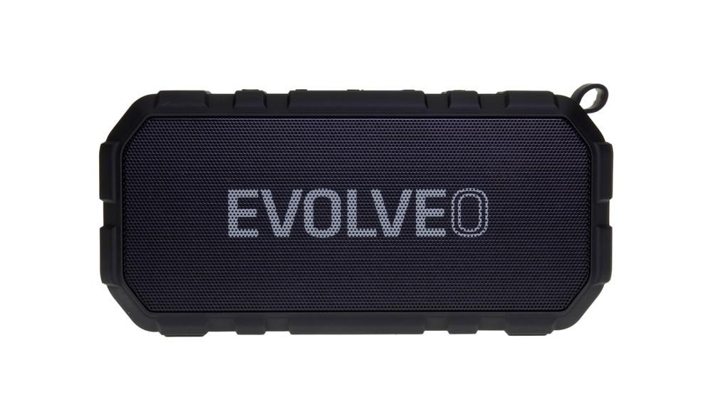 EVOLVEO Armor FX4, outdoorový Bluetooth reproduktor, 10W, FM, MP3 přehrávač, BT 4.2 EDR,microSD,černý
