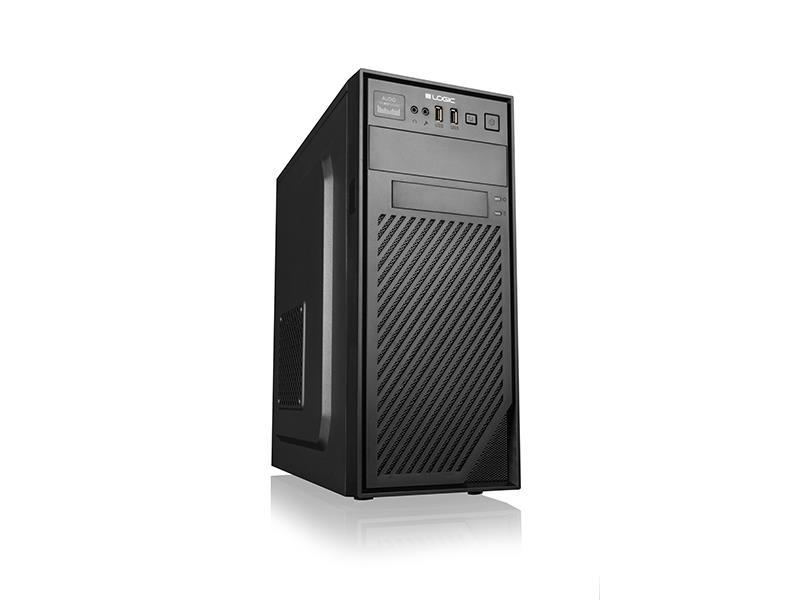 LOGIC PC skříň H2 Midi Tower, zdroj LOGIC 400W ATX PFC