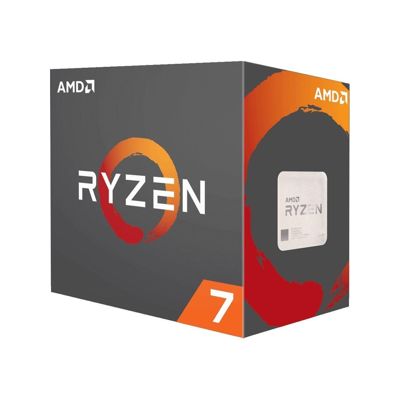 AMD cpu Ryzen 7 1700X Box AM4 (8core, 16x vlákno, 3.4GHz / 3.8GHz, 20MB cache, 95W) bez chladiče
